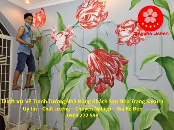 Dịch vụ Vẽ Tranh Tường Nhà Hàng Khách Sạn Nha Trang