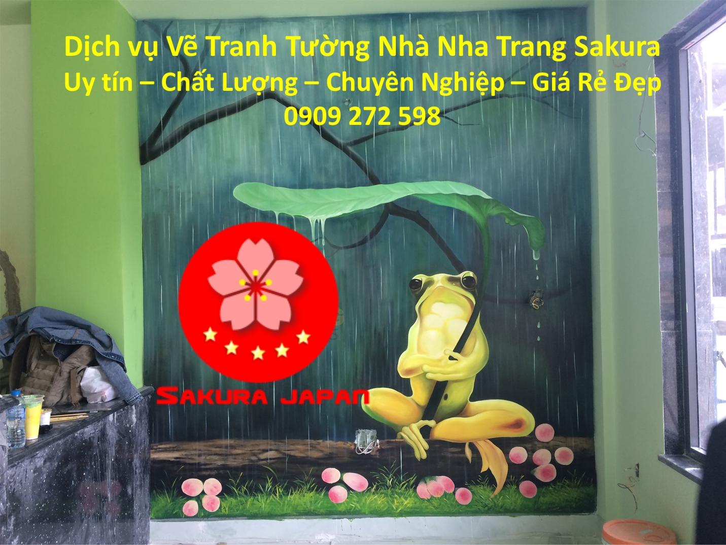 Dịch vụ Vẽ Tranh Tường Nhà ở tại Nha Trang Nghệ Thuật chuyên nghiệp Rẻ Đẹp Nhất 2