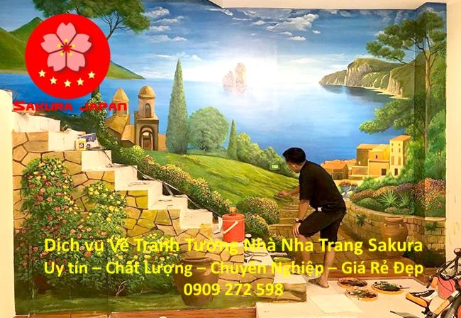 Dịch vụ Vẽ Tranh Tường Nhà ở tại Nha Trang Nghệ Thuật Chuyên nghiệp Rẻ Đẹp Nhất