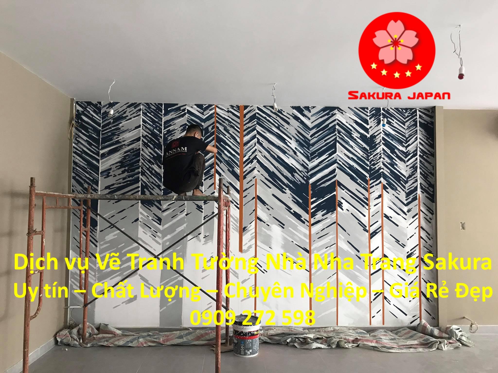 Dịch vụ Vẽ Tranh Tường Nhà ở tại Nha Trang Nghệ Thuật chuyên nghiệp Rẻ Đẹp Nhất 4
