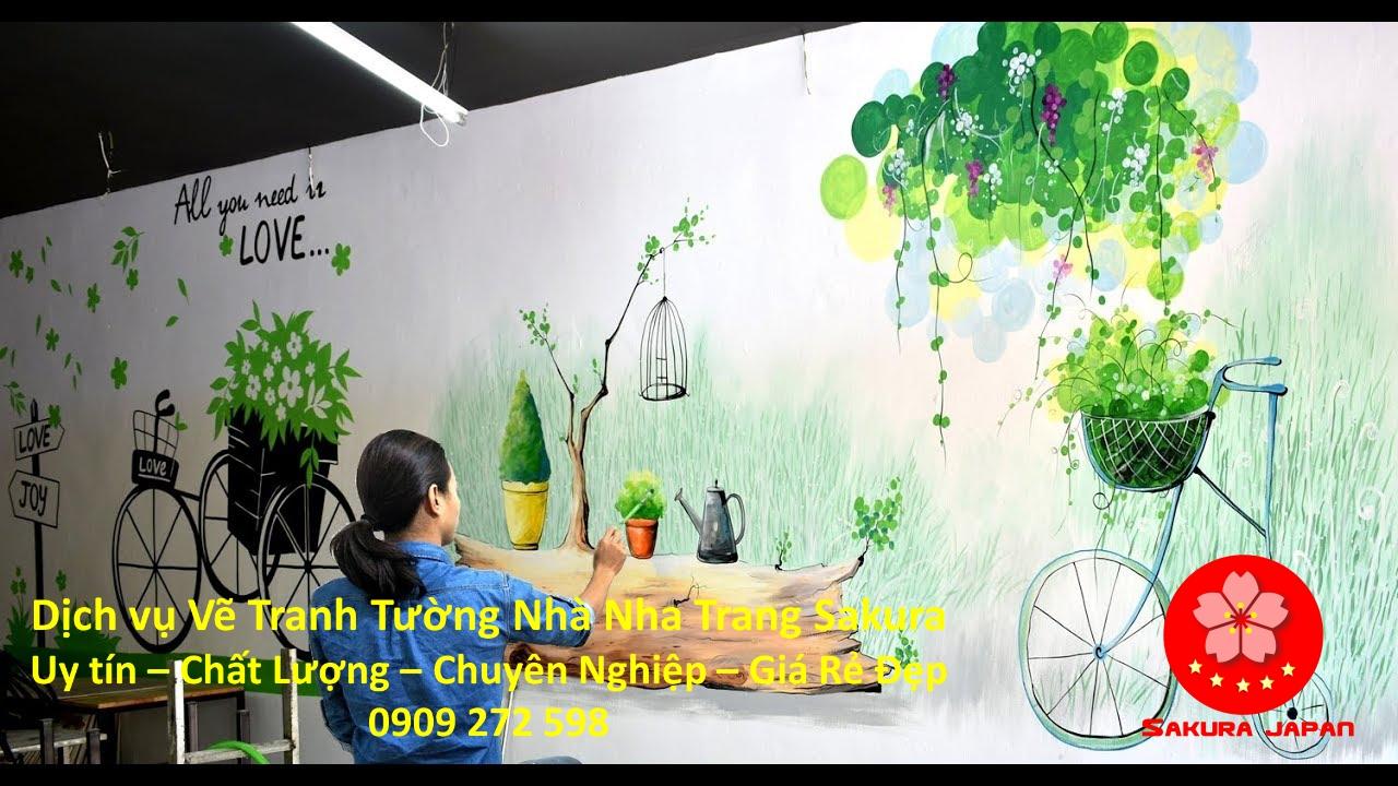 Dịch vụ Vẽ Tranh Tường Nhà ở tại Nha Trang Nghệ Thuật Rẻ Đẹp Nhất