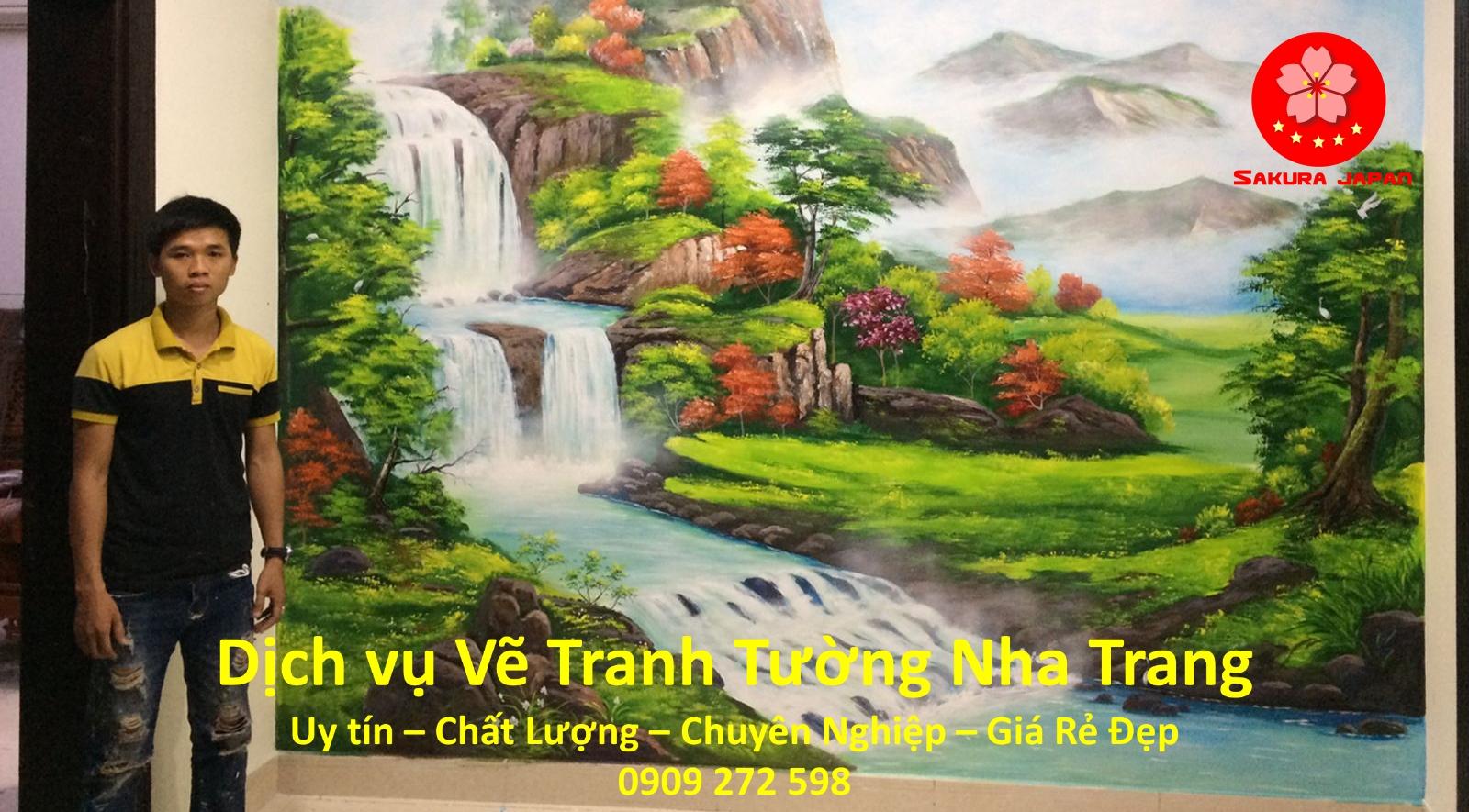 Dịch vụ Vẽ Tranh Tường Nha Trang uy tín rẻ Đẹp Nhất Sakura