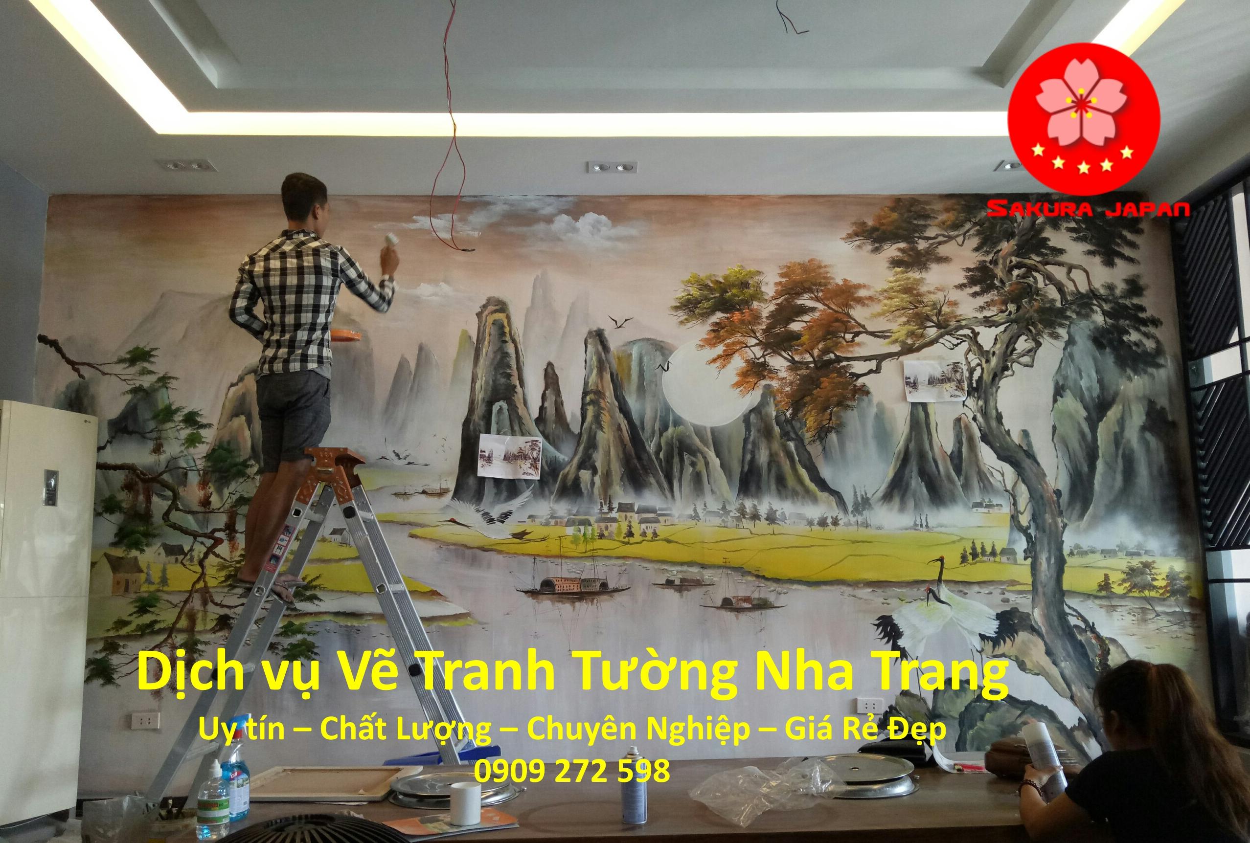 Dịch vụ Vẽ Tranh Tường Nha Trang Chuyên nghiệp Nhất Sakura