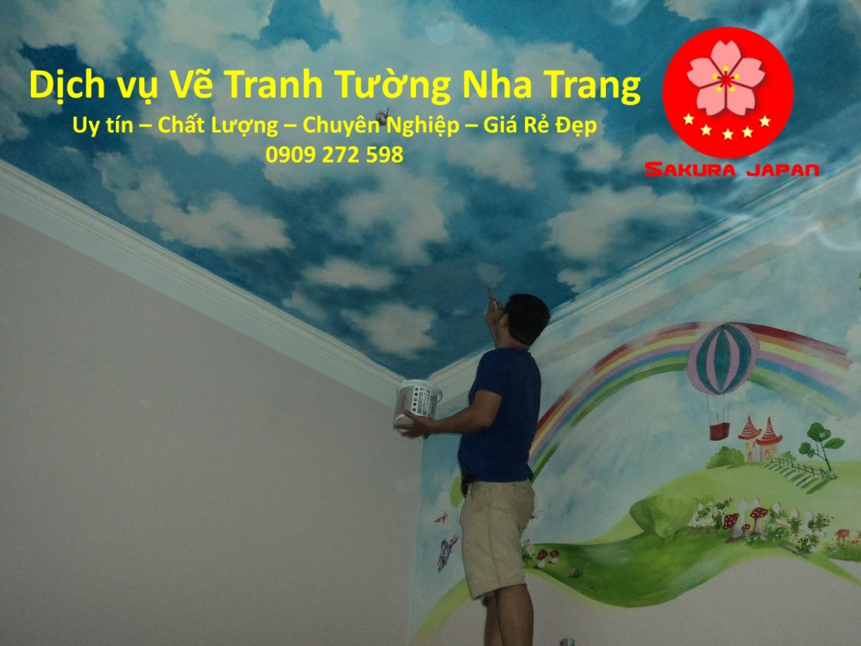 Dịch vụ Vẽ Tranh Tường Nha Trang uy tín Nhất Sakura