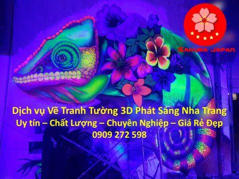 Vẽ Tranh Tường 3D Phát sáng Nha Trang