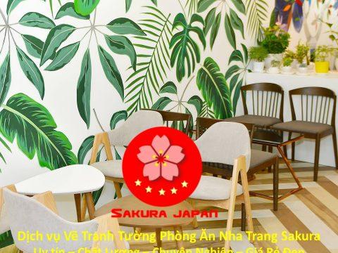 Vẽ Tranh Tường Phòng Ăn Nha Trang