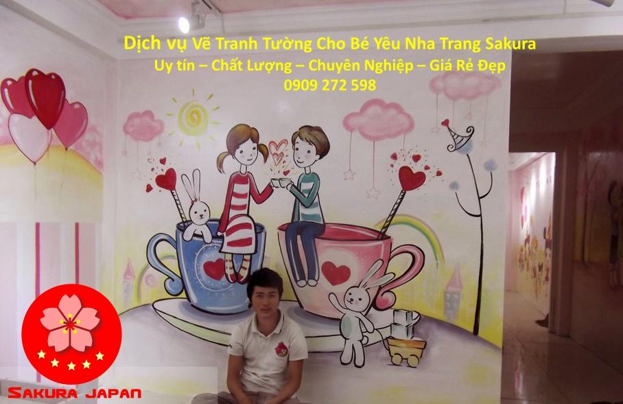 Dịch vụ Vẽ Tranh Tường Cho Bé Nha Trang