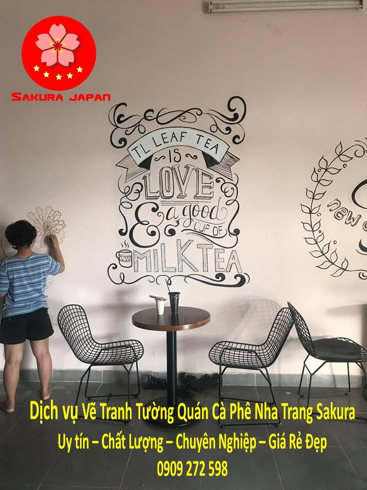 Vẽ Tranh Tường Quán Cà Phê Nha Trang Uy Tín rẻ Đẹp Nhất