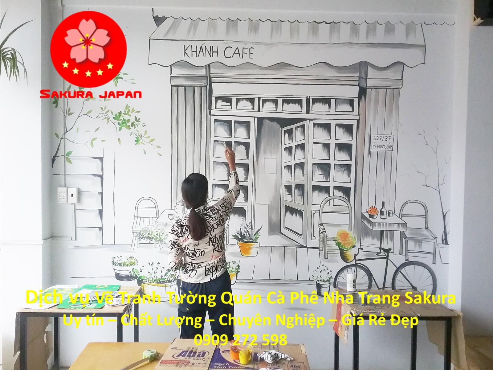 Vẽ Tranh Tường Quán Cafe Nha Trang Rẻ Đẹp Nhất