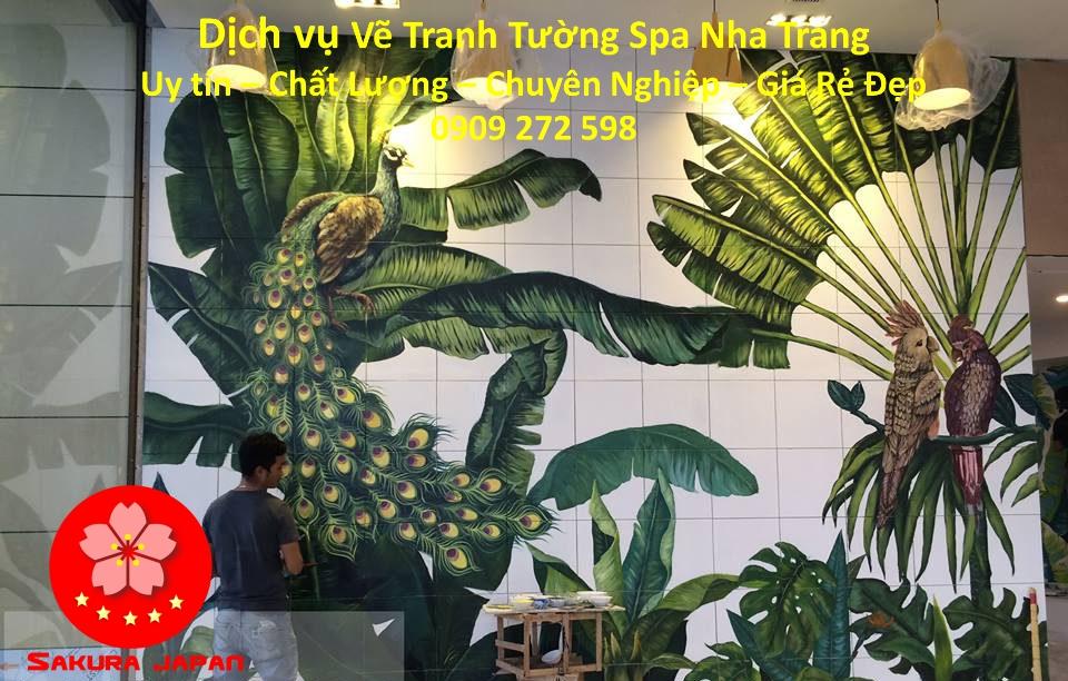 Dịch vụ Vẽ Tranh Tường Spa ở tại Nha Trang Đẹp Nhất