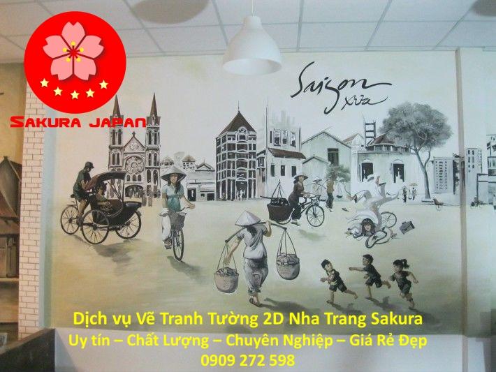 Dịch vụ Vẽ Tranh Tường 2D ở tại Nha Trang Nghệ Thuật Chuyên nghiệp Rẻ Đẹp Nhất 2