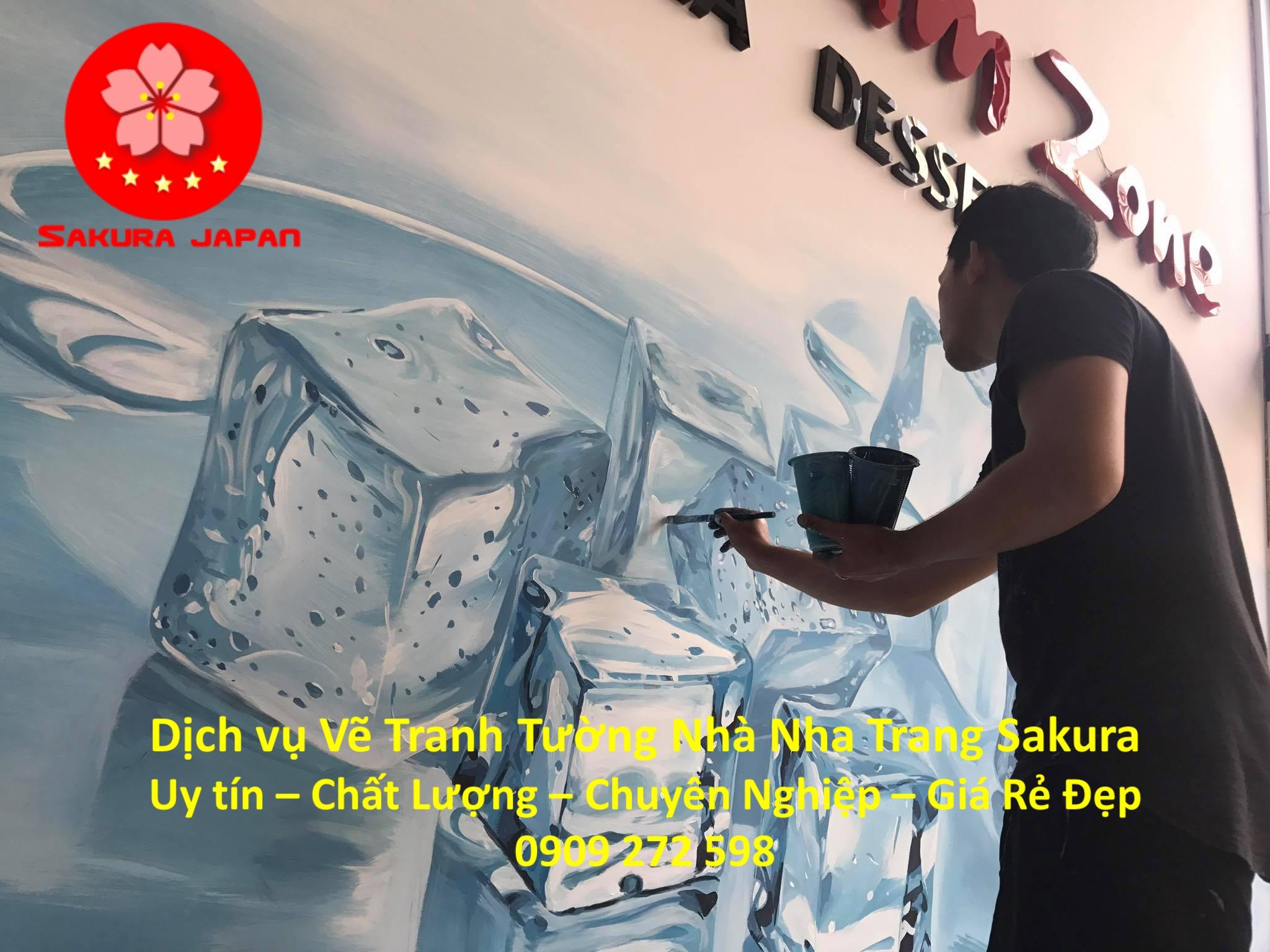 Dịch vụ Vẽ Tranh Tường Nhà ở tại Nha Trang Nghệ Thuật chuyên nghiệp Rẻ Đẹp Nhất 3