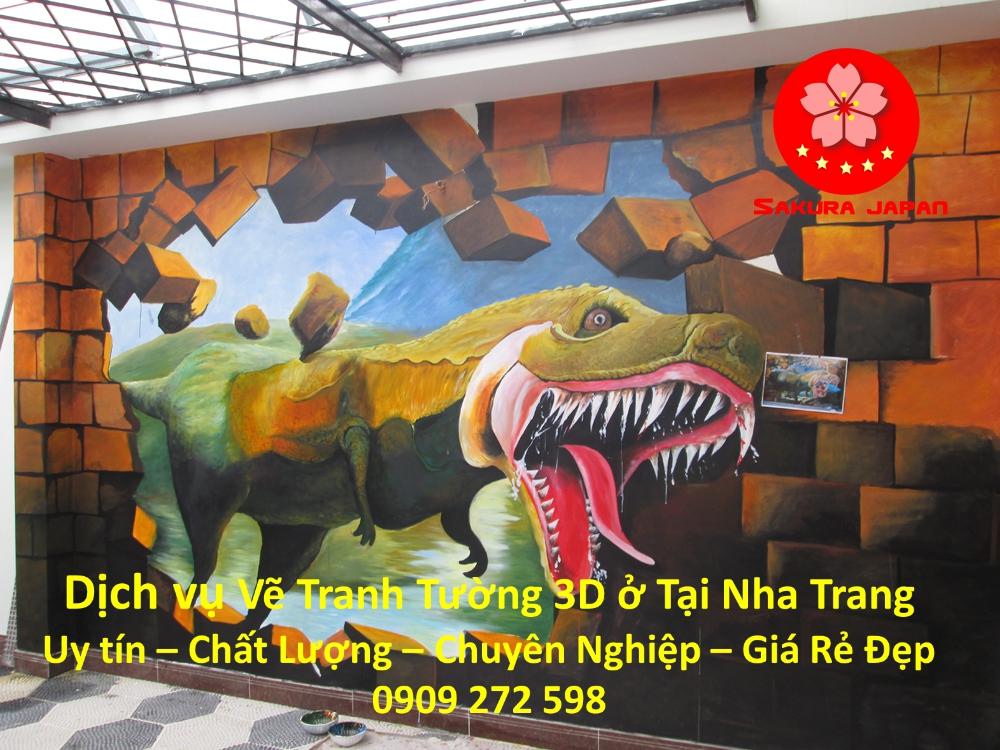 Vẽ Tranh Tường 3D Nha Trang Nghệ Thuật Nhất