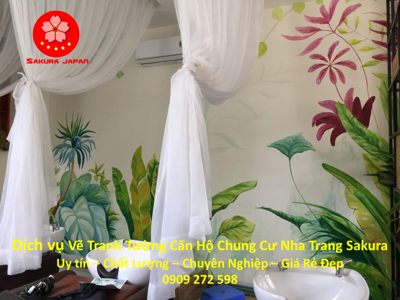 Vẽ Tranh Tường Căn hộ Chung Cư Nha Trang Nghệ Thuật