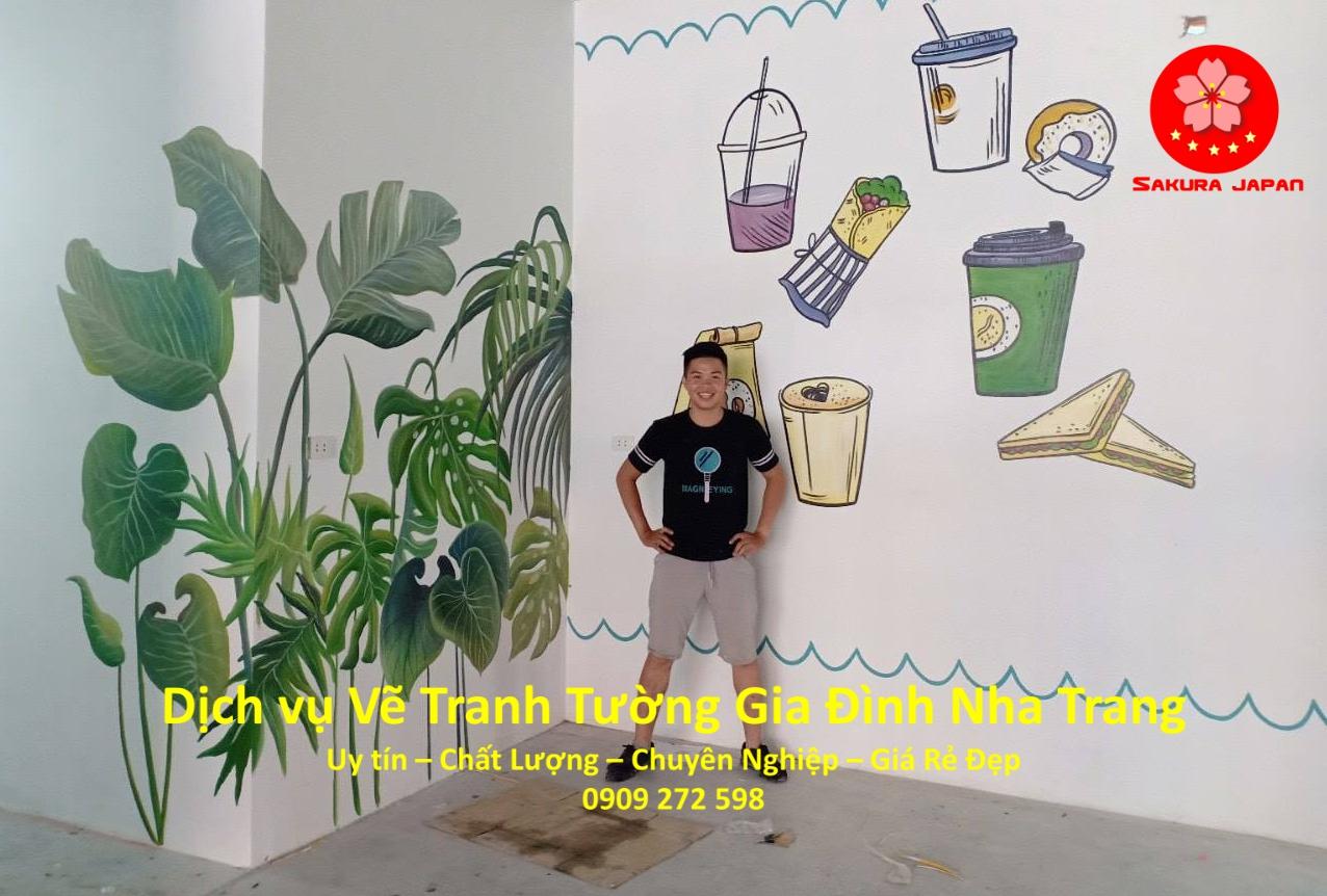 Vẽ Tranh Tường Gia Đình ở tại Nha Trang Uy Tín Đẹp Nhất