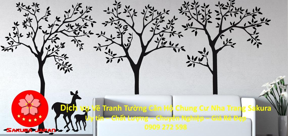 Vẽ Tranh Tường Căn hộ Chung Cư Nha Trang Rẻ Đẹp Nhất 7