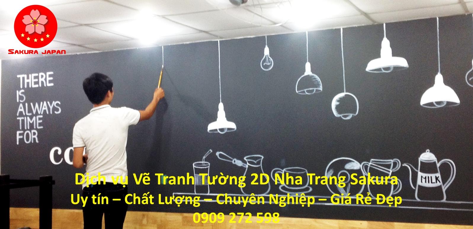 Dịch vụ Vẽ Tranh Tường 2D Nha Trang Nghệ Thuật Chuyên nghiệp Rẻ Đẹp Nhất
