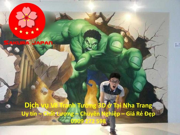 Dịch vụ Vẽ Tranh Tường 3D tại Nha Trang