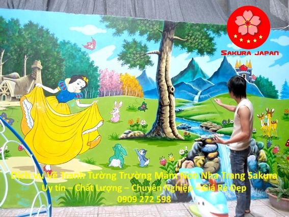 Vẽ Tranh Tường Trường Mầm Non tại Nha Trang đẹp Nhất