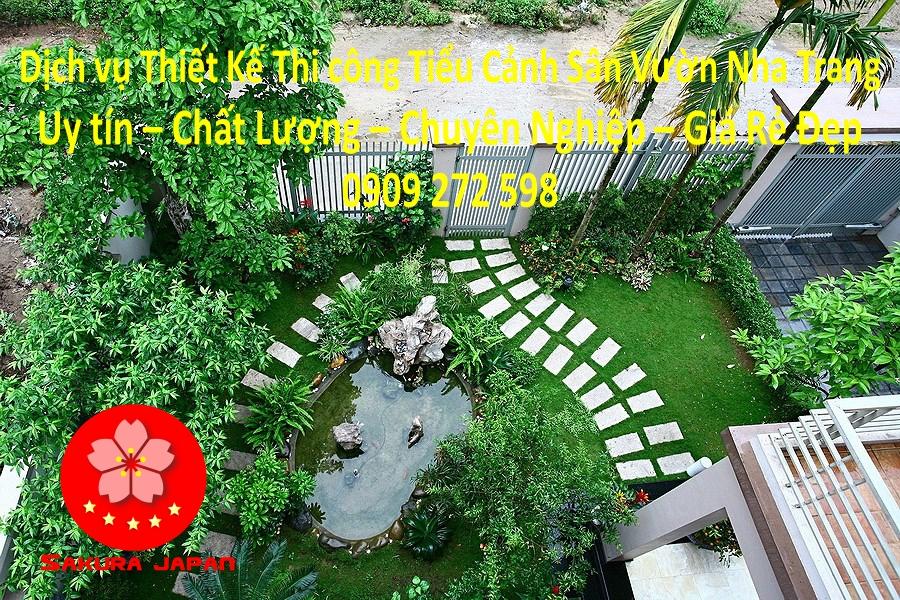 Thi Công Tiểu Cảnh Sân Vườn Nha Trang