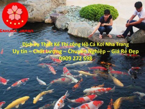 Thi Công Hồ Cá Koi Nha Trang