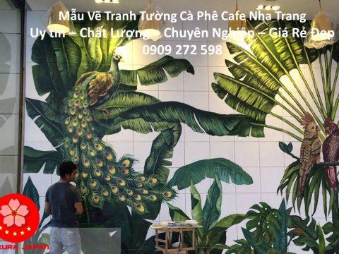 Mẫu Vẽ tranh Tường Cafe Nha Trang