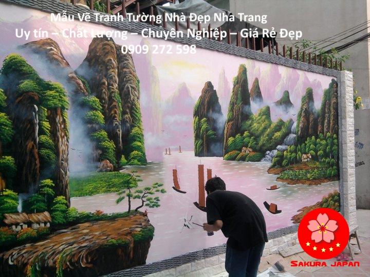 Mẫu Vẽ Tranh Tường Nhà Nha Trang 3