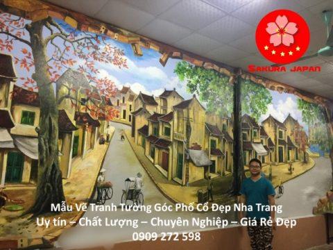 Mẫu Vẽ Tranh Tường Góc Phố Nha Trang
