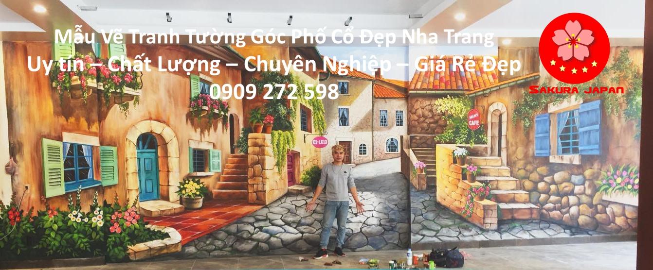 Mẫu Vẽ Tranh Tường Góc Phố Nha Trang 7