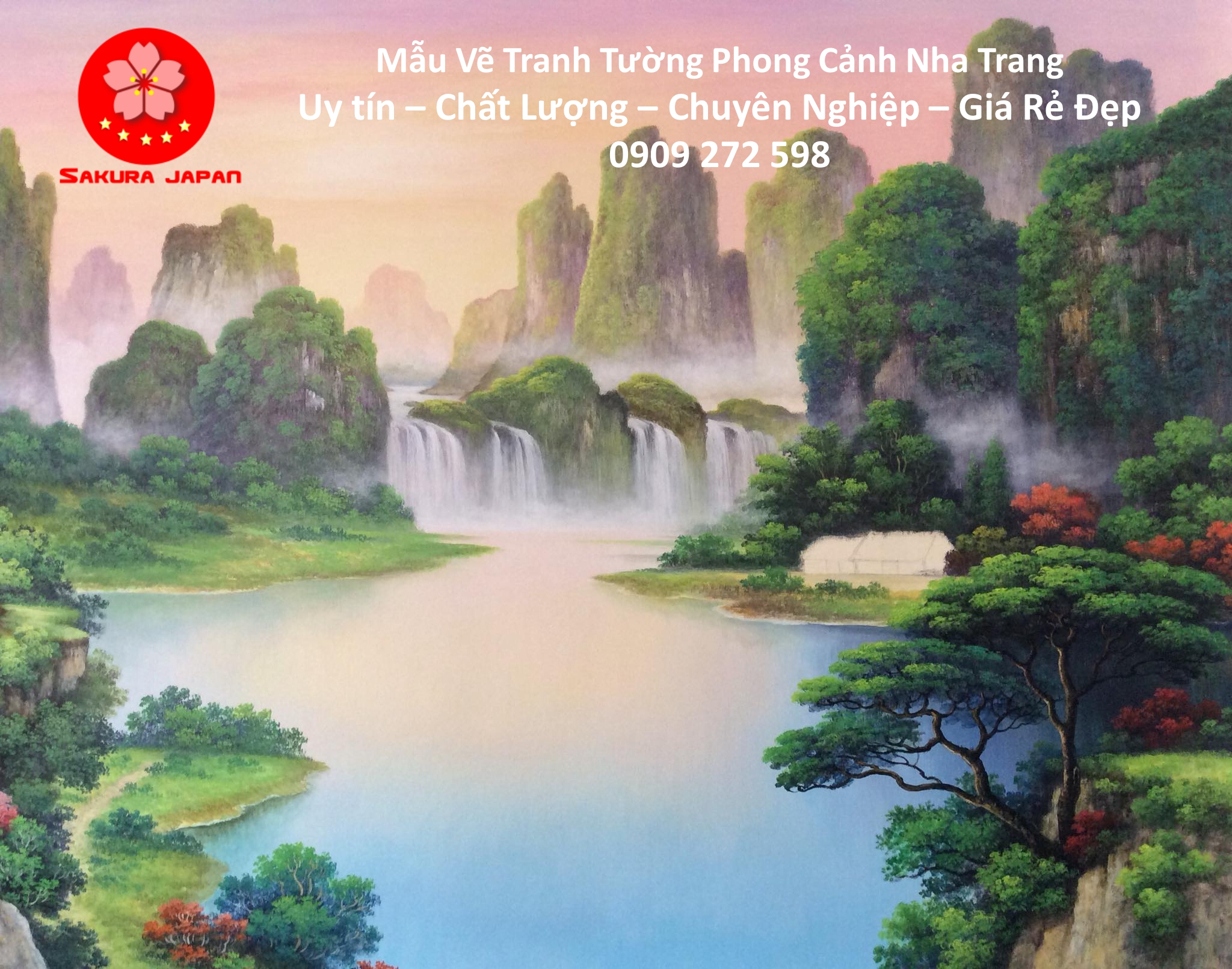 Mẫu Tranh Tường Phong Cảnh Nha Trang 9