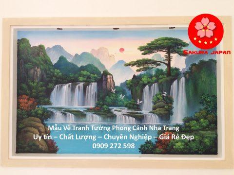 Mẫu Tranh Tường Phong Cảnh Nha Trang