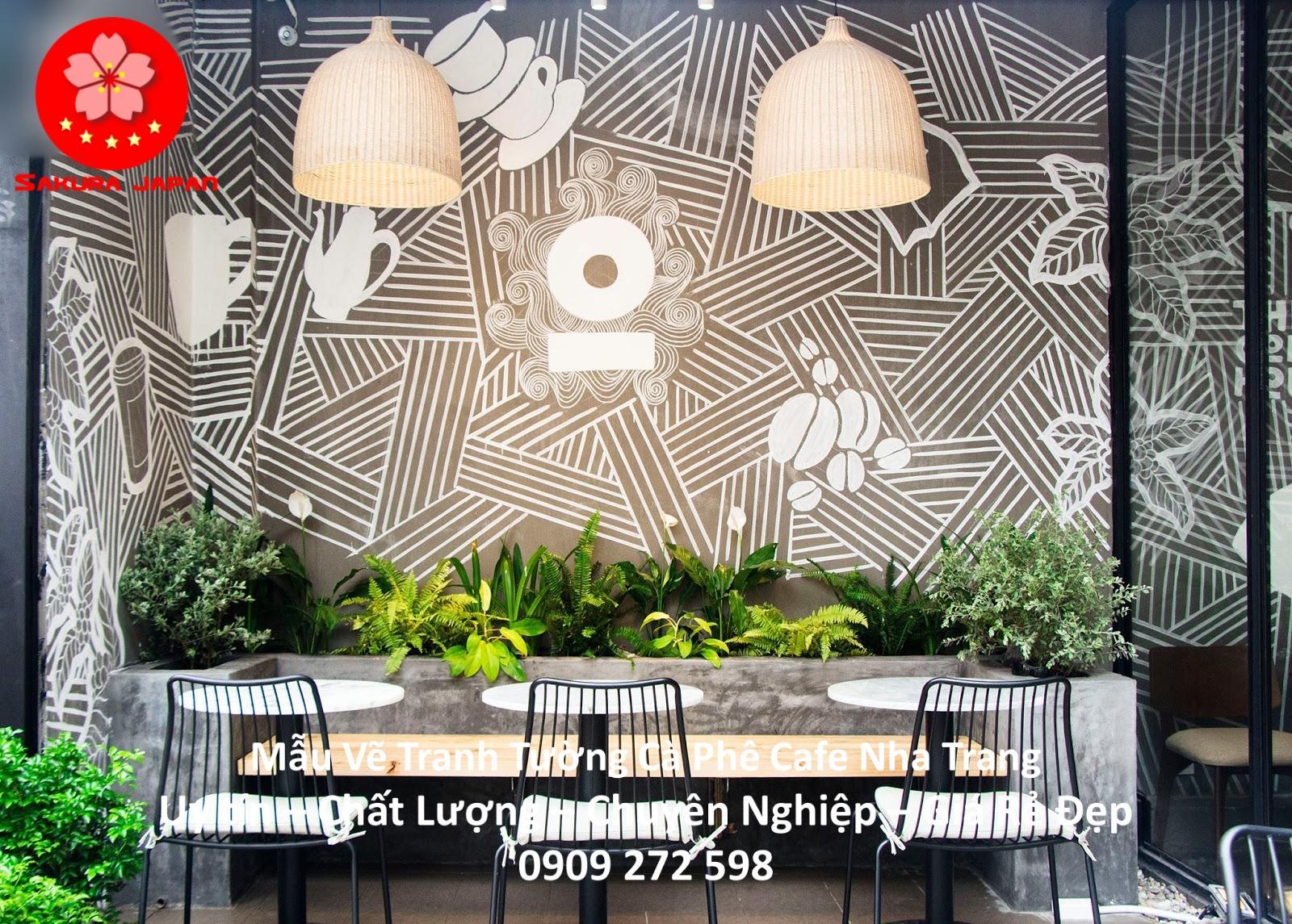 Mẫu Vẽ tranh Tường Cafe Nha Trang 11