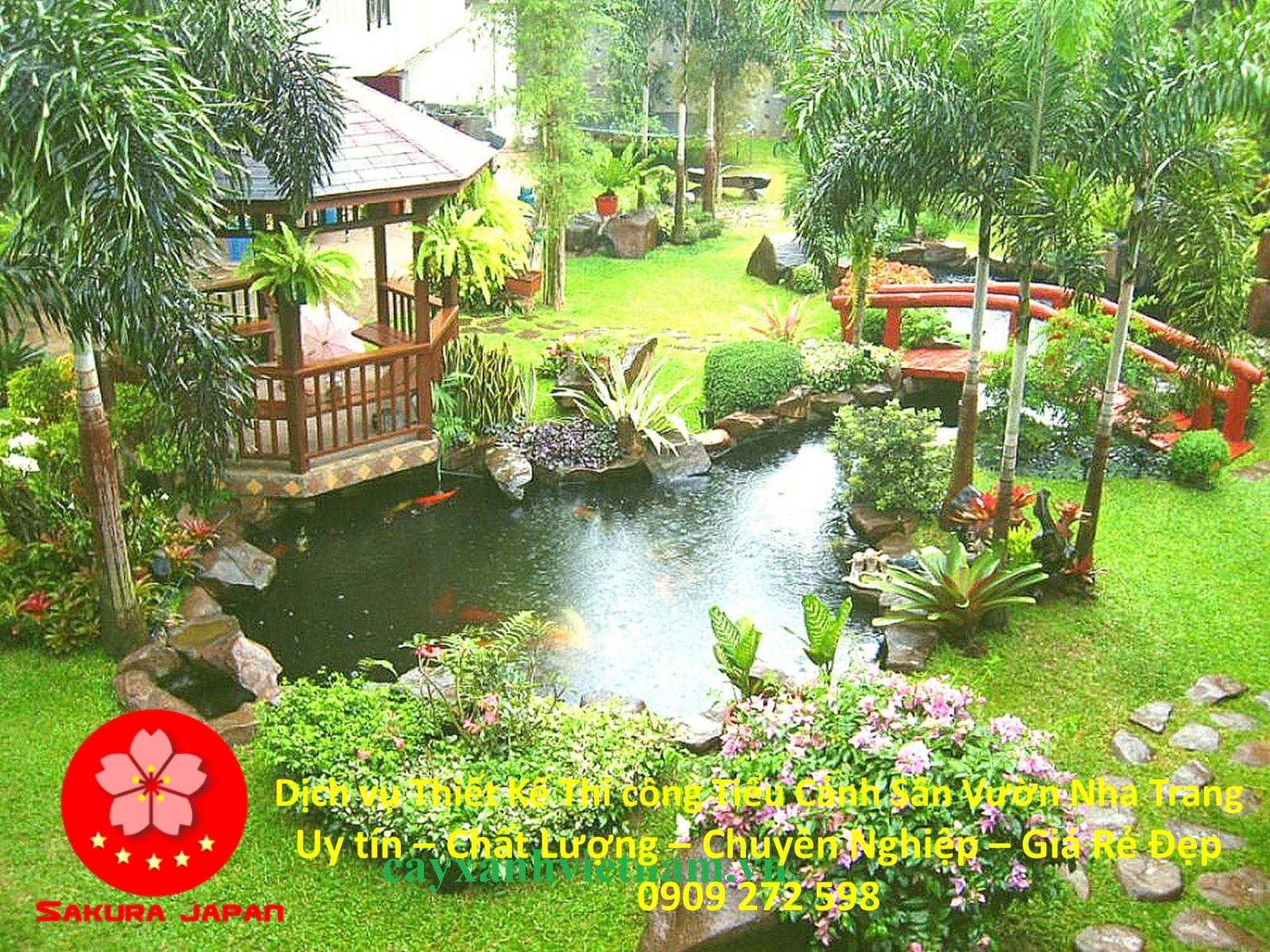Thiết kế Thi Công Tiểu Cảnh Sân Vườn Nha Trang