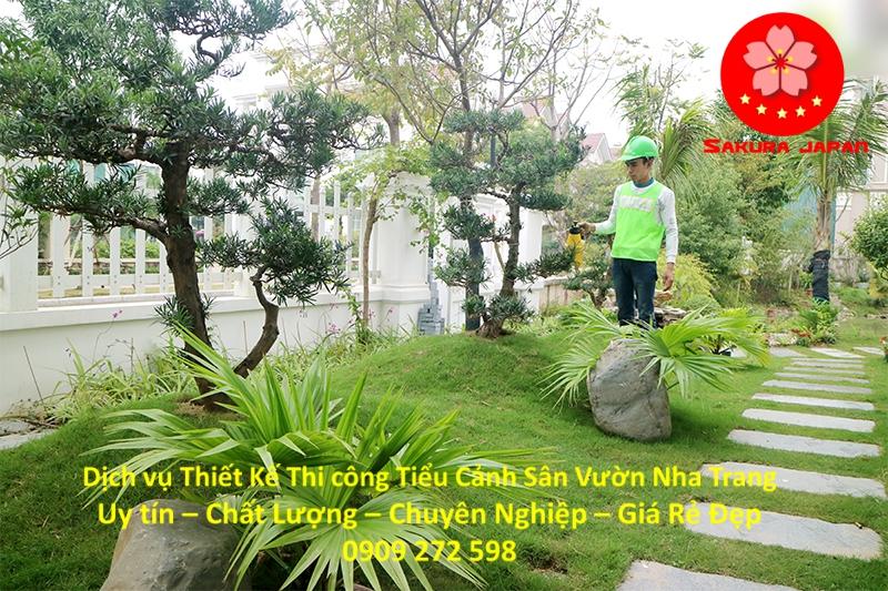 Làm Tiểu Cảnh Sân Vườn Nha Trang Đẹp Nhất 5