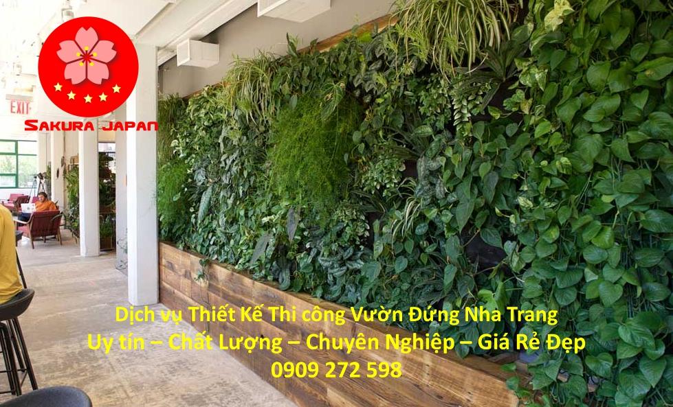 Thiết Kế Thi Công Vườn Đứng ở tại Nha Trang