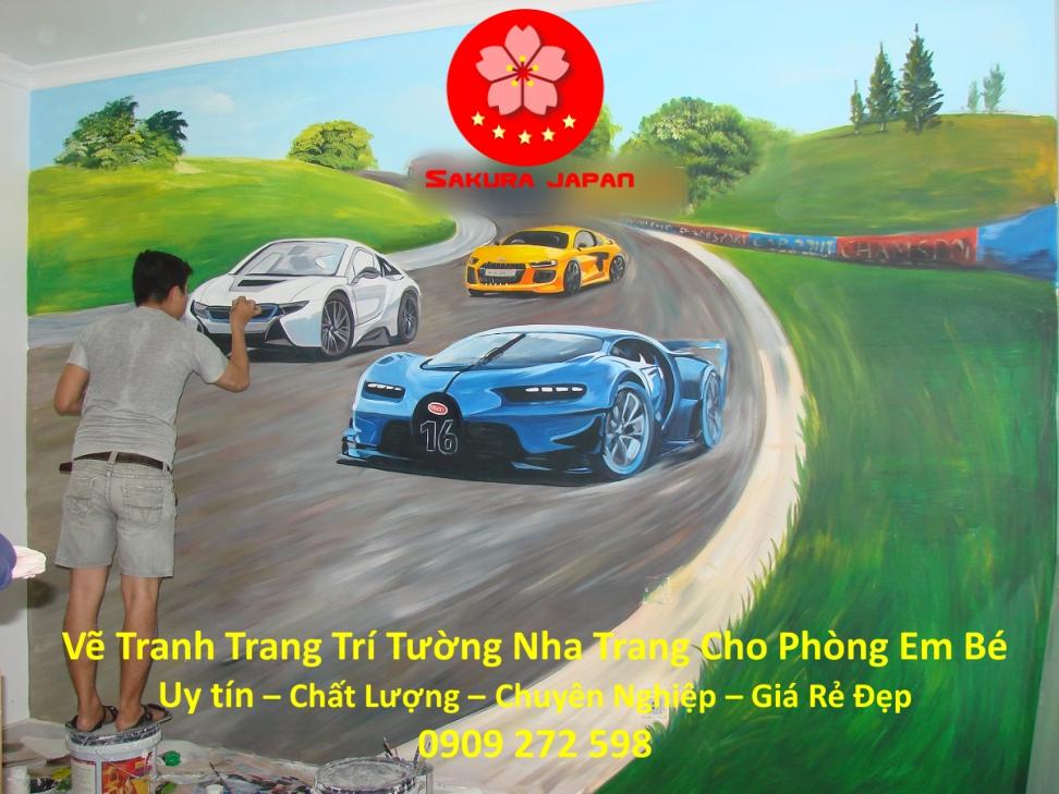Vẽ Tranh tường Nha Trang cho Phòng Bé Rẻ Đẹp Nhất 4