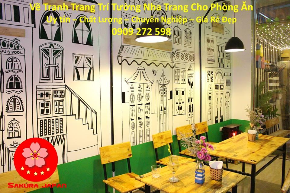 Vẽ Tranh Tường Nha Trang Cho Phòng Ăn Rẻ Đẹp Nhất 3