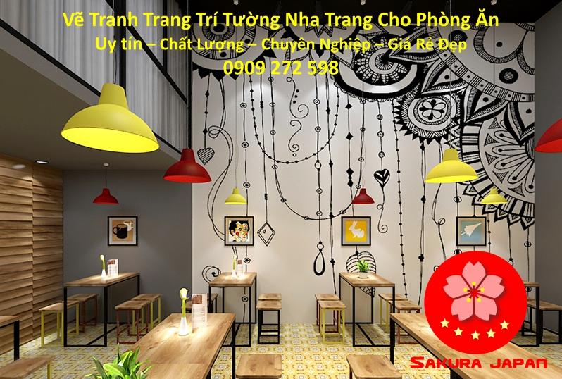 Vẽ Tranh Tường Nha Trang Cho Phòng Ăn Rẻ Đẹp Nhất 5