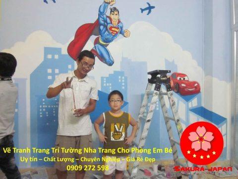 Vẽ Tranh tường Nha Trang cho Phòng Bé