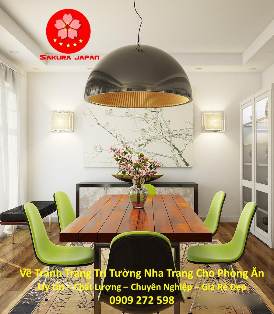 Vẽ Tranh Tường Nha Trang Cho Phòng Ăn Rẻ Đẹp Nhất