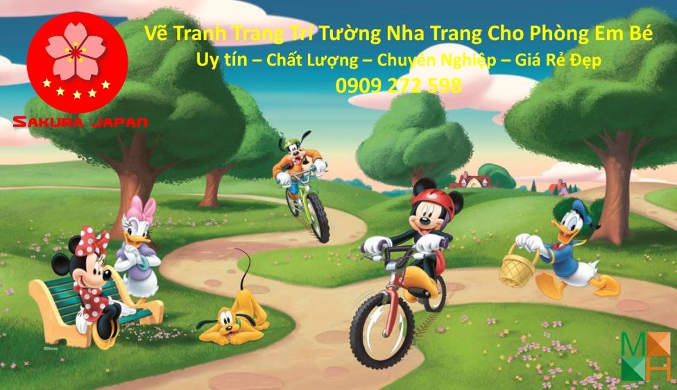 Vẽ Tranh tường Nha Trang cho Phòng Bé Đẹp Nhất