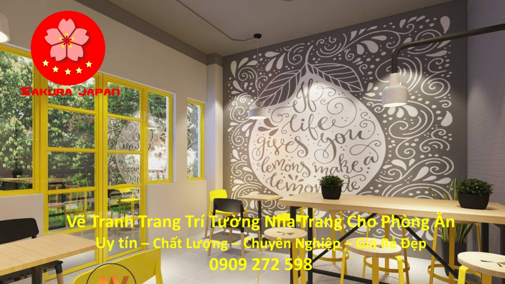 Vẽ Tranh Tường Nha Trang Cho Phòng Ăn Rẻ Đẹp Nhất 4