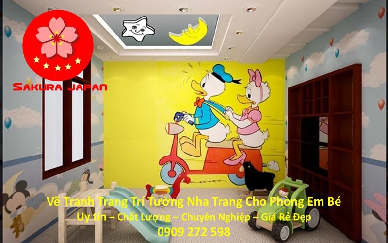 Vẽ Tranh tường Nha Trang cho Phòng Bé Rẻ Đẹp Nhất 5