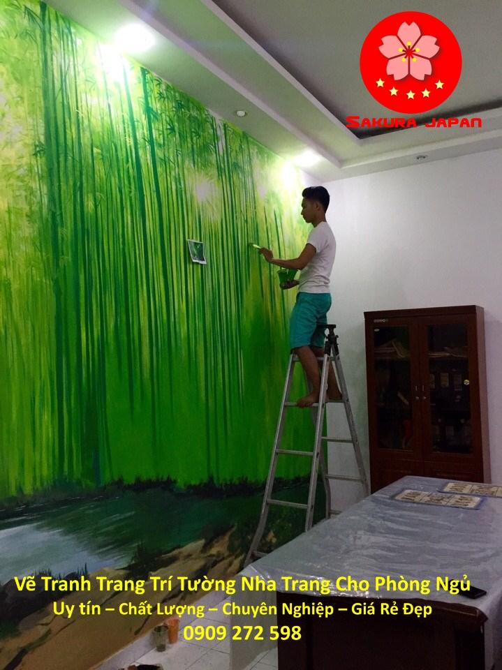 Vẽ Tranh Tường Nha Trang Cho Phòng Ngủ Rẻ Đẹp Nhất