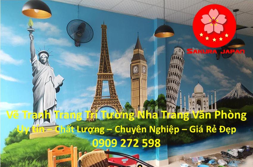 Vẽ Tranh Tường Nha Trang Cho Văn Phòng Rẻ Đẹp Nhất 4