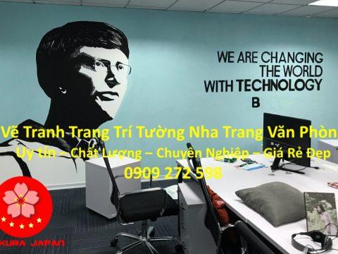 Vẽ Tranh Tường Nha Trang Cho Văn Phòng