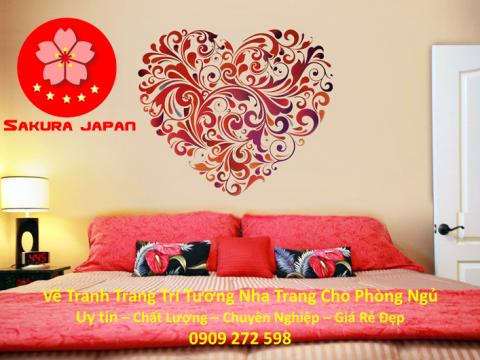 Vẽ Tranh Tường Nha Trang Cho Phòng Ngủ