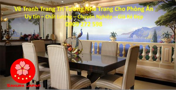 Vẽ Tranh Tường Nha Trang Cho Phòng Ăn Rẻ Đẹp Nhất 2