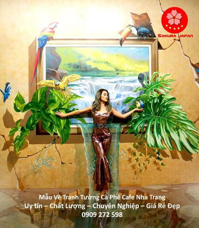Mẫu Vẽ tranh Tường Cafe Nha Trang 7