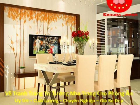 Vẽ Tranh Tường Nha Trang Cho Phòng Ăn